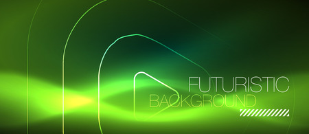 Color shiny neon lights background with abstract lines, magic energy concept 일러스트