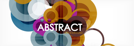 Abstract colorful geometric composition - multicolored circle background, vector illustration Illustration
