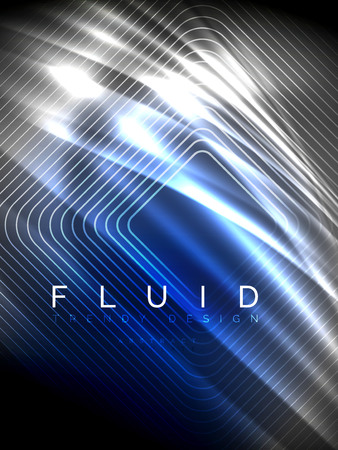 Neon glowing wave, magic energy and light motion background. Vertical orientation Ilustração