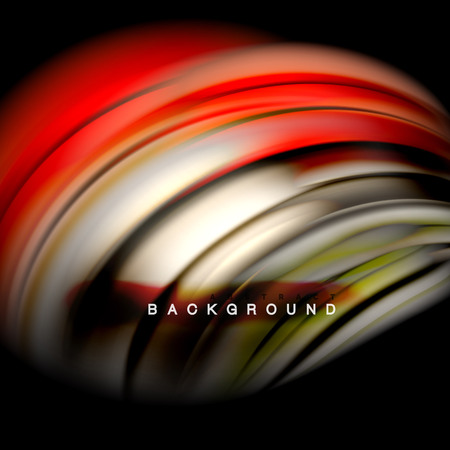 Background abstract - liquid color wave, trendy flowing design template 矢量图像