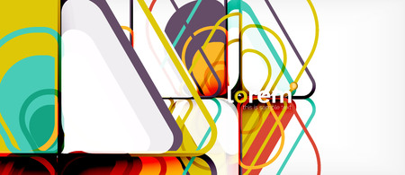 Abstract background - multicolored geometric shapes modern design. Trendy abstract layout template for business or technology presentation or web brochure cover, wallpaper. Vector illustration