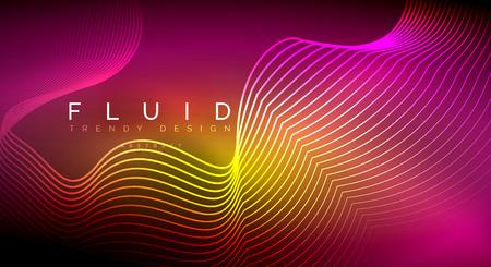 Abstrait de particules de vague qui coule numérique, conception d'effet de fumée vectorielle