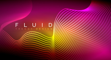 Digital flowing wave particles abstract background, vector smoke effect design