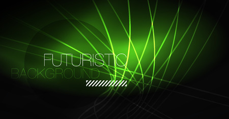 Digital technology abstract background - neon geometric design. Abstract glowing lines. Colorful techno vector background. Futuristic shape. Stock fotó - 127126393