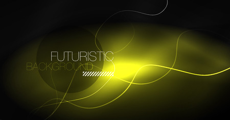 Neon lines wave background. Vector abstract composition Illustration