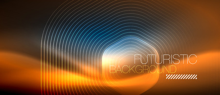 Neon glowing lines, magic energy space light concept, abstract background wallpaper design, vector illustration