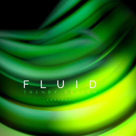Background abstract - liquid color wave, trendy flowing design template Ilustração