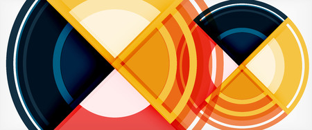 Multicolored round shapes abstract background, vector illustration Illustration