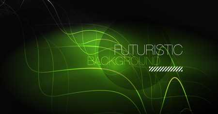Neon lines wave background. Vector abstract composition Vettoriali