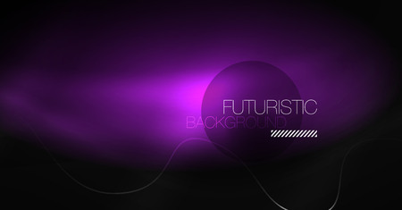 Neon lines wave background. Vector abstract composition Vectores