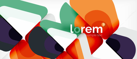 Geometric abstract background. Trendy abstract layout template for business or technology presentation or web brochure cover, wallpaper. Vector illustration
