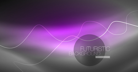 Neon lines wave background. Vector abstract composition Vektorgrafik