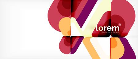 Abstract background multicolored geometric shapes modern design Vektorové ilustrace