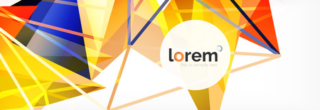 Modern geometric background. Poster template with polygonal elements. Vector illustration