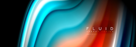 Fluid wave line background or pattern. Geometric technology abstract background. Movement effect. Vector illustration