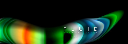 Fluid wave line background or pattern. Geometric technology abstract background. Movement effect. Ilustrace