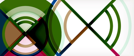 Circle abstract background, bright colorful round geometric shapes