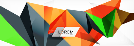 Mosaic triangular low poly style abstract geometric background. Polygonal vector. Abstract white bright technology vector design.