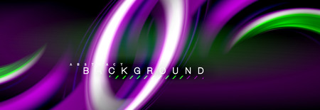 Blurred fluid colors background, abstract waves lines, mixing colours with light effects on light backdrop. Artistic illustration for presentation, app wallpaper, banner or posters 免版税图像 - 126489290
