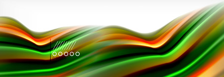 Abstract wave lines liquid fluid rainbow style color stripes background. Vector artistic illustration for presentation, app wallpaper, banner or poster
