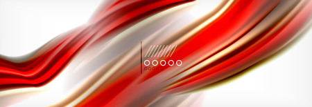 Smooth liquid blur wave background, color flow concept, vector illustration