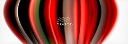 Smooth liquid blur wave background, color flow concept, vector illustration 版權商用圖片 - 114755301