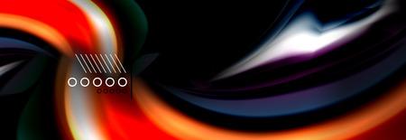 Color flow poster. Wave Liquid shape color background. Art vector design for your design