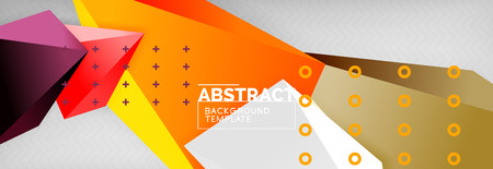 3d polygonal shape geometric background, triangular modern abstract composition. Vector techno or business template illustration Illustration