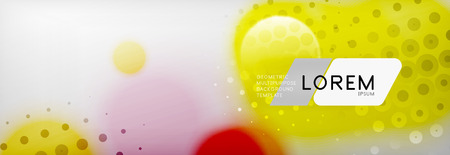 Background abstract - blurred dotted color circle shape, techno bubbles