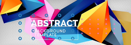 3d polygonal shape geometric background, triangular modern abstract composition