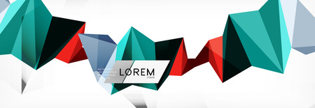 Mosaic triangular low poly style abstract geometric background. Polygonal vector. Abstract white bright technology design.