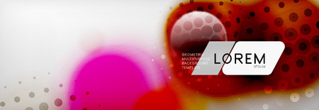 Background abstract - blurred dotted color circle shape, techno bubbles, vector illustration