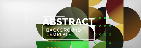 Circles and semicircles abstract background, circle design business template