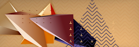 3d triangular shapes abstract