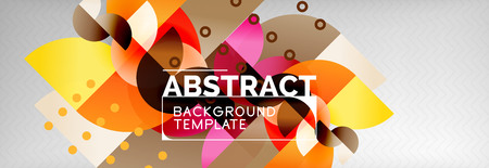 Abstract background, geometric circle composition
