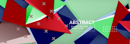Abstract background, colorful minimal abstract triangle composition