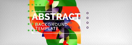 Circle composition abstract background Ilustração