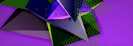 3d triangular vector minimal abstract background design Vectores