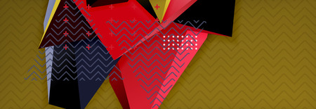 3d triangular vector minimal abstract background design Çizim