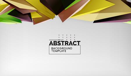3d triangle geometric background design, modern poster template