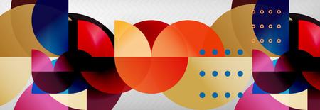 Abstract background, geometric circle composition, vector illustration Ilustração