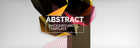 Minimalistic geometric abstract background