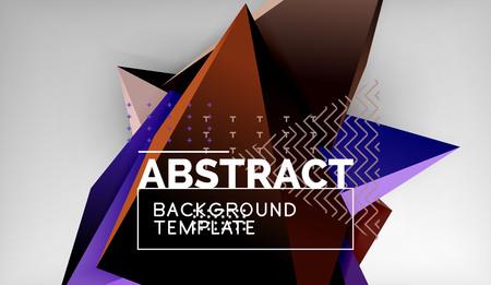 Conception de fond géométrique triangle 3D, modèle d'affiche moderne. Illustration vectorielle