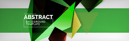 Dark 3d triangular low poly shapes abstract background, vector minimal geometric poster design 向量圖像