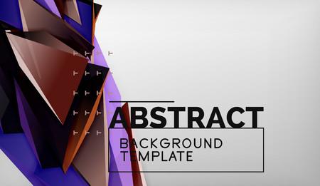 3d triangle geometric background design, modern poster template. Vector illustration