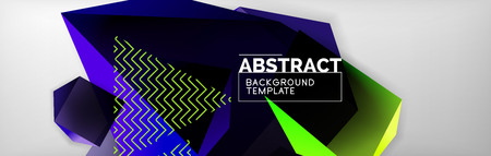 Dark 3d triangular low poly shapes abstract background 向量圖像
