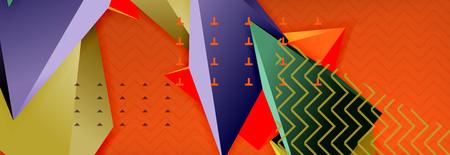 3d triangular vector minimal abstract background design Illustration