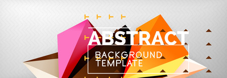 3d polygonal shape geometric background, triangular modern abstract composition. Vector techno or business template illustration 矢量图像