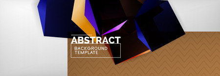 Dark 3d triangular low poly shapes abstract background