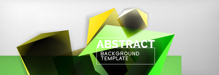 Dark 3d triangular low poly shapes abstract background Ilustrace